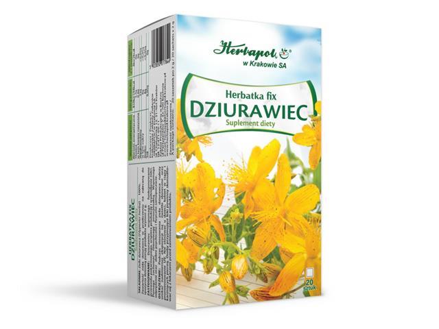 Herbatka fix Dziurawiec interakcje ulotka   20 sasz. po 2 g