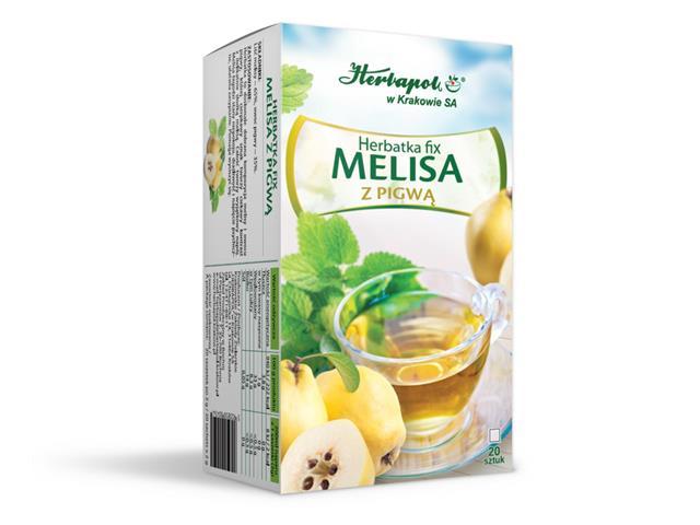 Herbatka fix MELISA Z PIGWĄ interakcje ulotka  2 g 20 toreb.