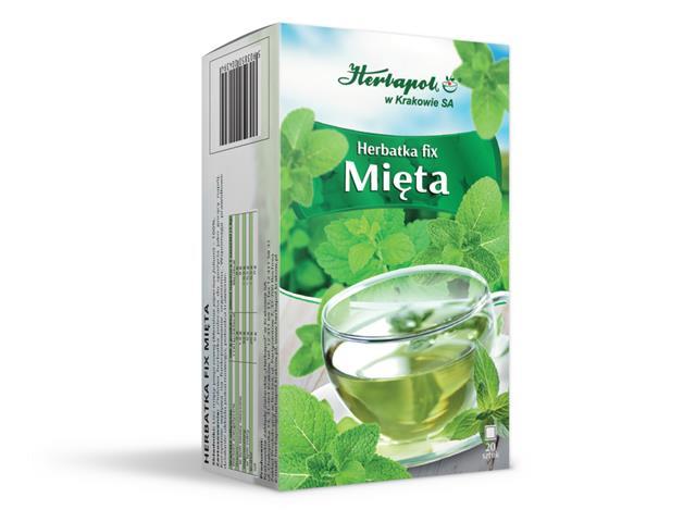 Herbatka fix Mięta interakcje ulotka  1,5 g 20 toreb.