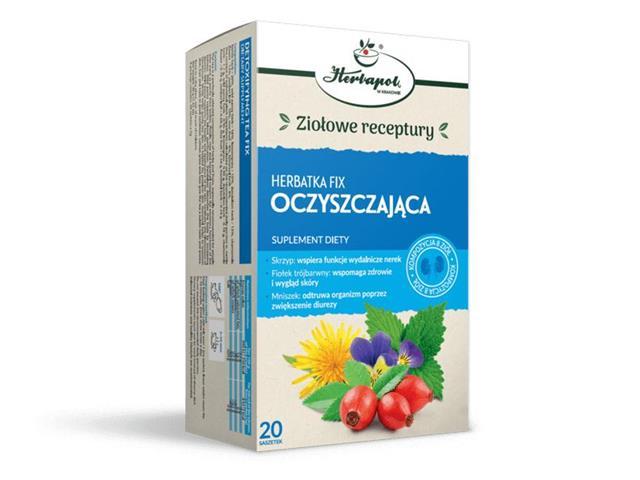 Herbatka fix Oczyszczająca interakcje ulotka herbata 2 g 20 sasz.