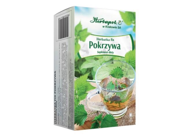 Herbatka fix Pokrzywa interakcje ulotka zioła do zaparzania w saszetkach 1,5 g 20 toreb.