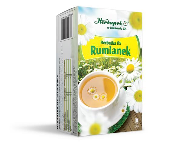 Herbatka fix Rumianek interakcje ulotka  1,5 g 20 toreb.