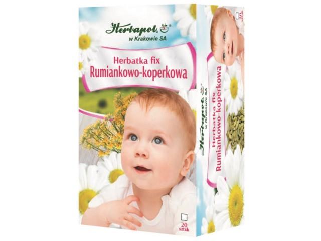 Herbatka RUMIANKOWO-KOPERKOWA interakcje ulotka  2 g 20 toreb.