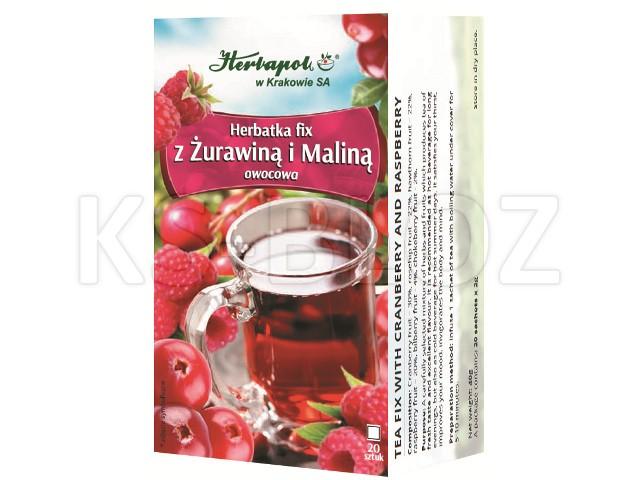 Herbatka z żurawiną i maliną interakcje ulotka herbata  20 toreb. po 2 g