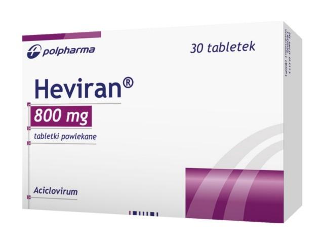 Heviran interakcje ulotka tabletki powlekane 0,8 g 30 tabl.