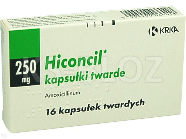 Hiconcil interakcje ulotka kapsułki twarde 0,25 g 16 kaps.