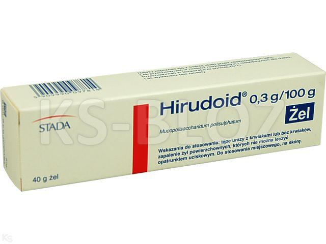 Hirudoid interakcje ulotka żel 0,3 g/100g 40 g
