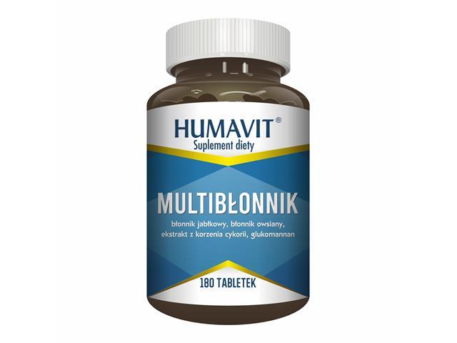 Humavit Multi-Błonnik interakcje ulotka tabletki  180 tabl.
