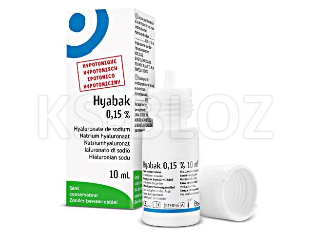 Hyabak nawilżaj. hypotoniczny interakcje ulotka krople do oczu, roztwór 0,15 % 10 ml