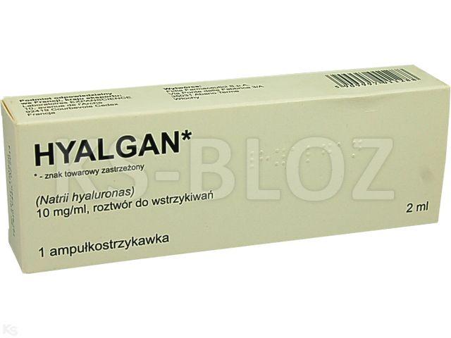 Hyalgan interakcje ulotka roztwór do wstrzykiwań 0,01 g/ml 1 amp.-strz. po 2 ml