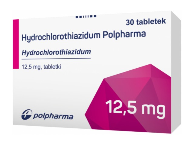 Hydrochlorothiazidum Polpharma interakcje ulotka tabletki 0,0125 g 30 tabl.