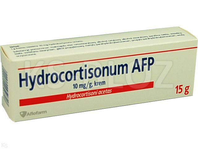 Hydrocortisonum AFP interakcje ulotka krem 0,01 g/g 15 g