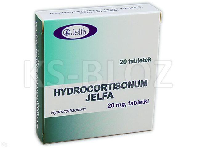 Hydrocortisonum Jelfa interakcje ulotka tabletki 0,02 g 20 tabl.