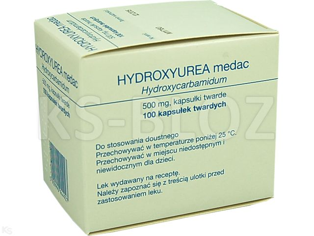 Hydroxyurea medac interakcje ulotka kapsułki twarde 0,5 g 100 kaps.