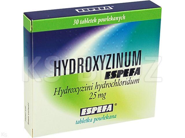 Hydroxyzinum Espefa interakcje ulotka tabletki powlekane 0,025 g 30 tabl.