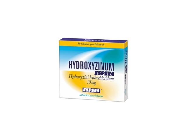 Hydroxyzinum Espefa interakcje ulotka tabletki powlekane 0,01 g 30 tabl.