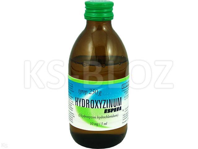 Hydroxyzinum Espefa interakcje ulotka syrop 0,01 g/5ml 250 g