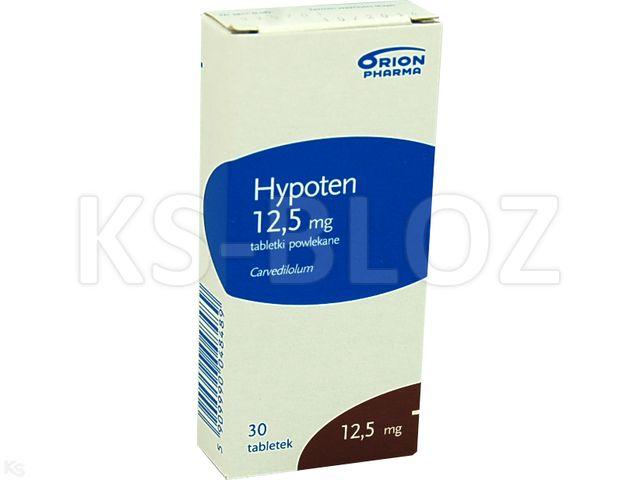 Hypoten interakcje ulotka tabletki powlekane 0,0125 g 30 tabl.