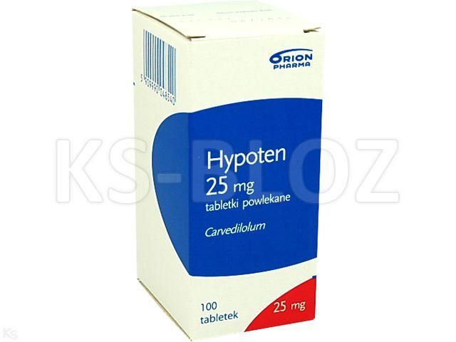 Hypoten interakcje ulotka tabletki powlekane 0,025 g 100 tabl.