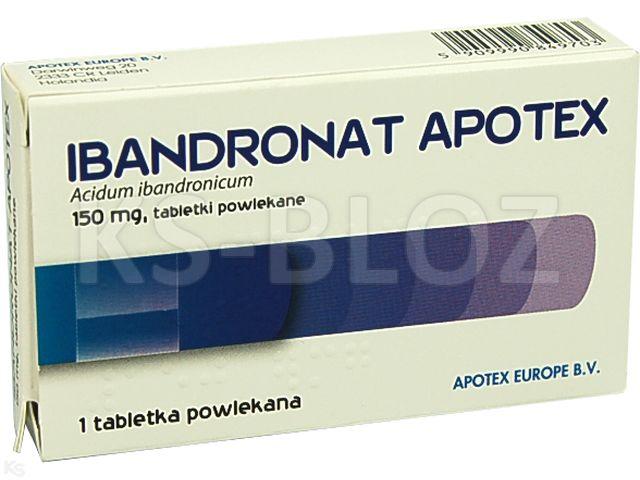 Ibandronat Apotex interakcje ulotka tabletki powlekane 0,15 g 1 tabl.
