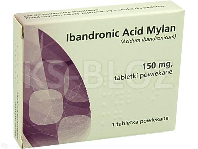 Ibandronic Acid Mylan interakcje ulotka tabletki powlekane 0,15 g 1 tabl.