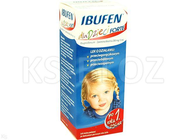 Ibufen dla dzieci Forte sm.coli interakcje ulotka zawiesina doustna 0,2 g/5ml 100 ml | butelka