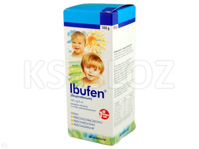 Ibufen dla dzieci o smaku malinowym interakcje ulotka zawiesina doustna 0,1 g/5ml 100 g