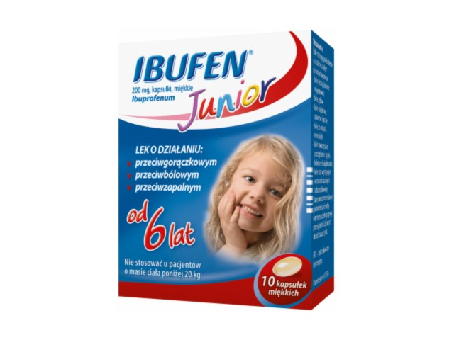 Ibufen Junior interakcje ulotka kapsułki miękkie 0,2 g 10 kaps.