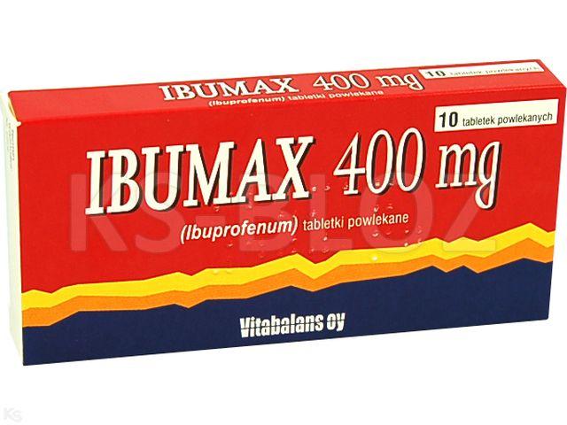 Ibumax 400mg interakcje ulotka tabletki powlekane 0,4 g 10 tabl.