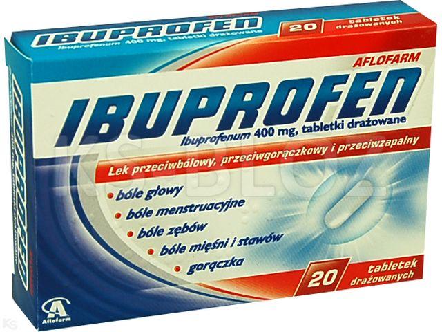 Ibuprofen Aflofarm interakcje ulotka tabletki drażowane 0,4 g 20 tabl.
