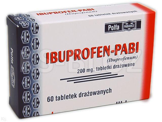 Ibuprofen -Pabi interakcje ulotka tabletki drażowane 0,2 g 60 tabl.
