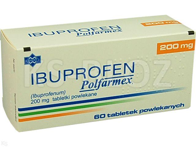 Ibuprofen Polfarmex interakcje ulotka tabletki powlekane 0,2 g 60 tabl. | 6 blist.po 10 szt.