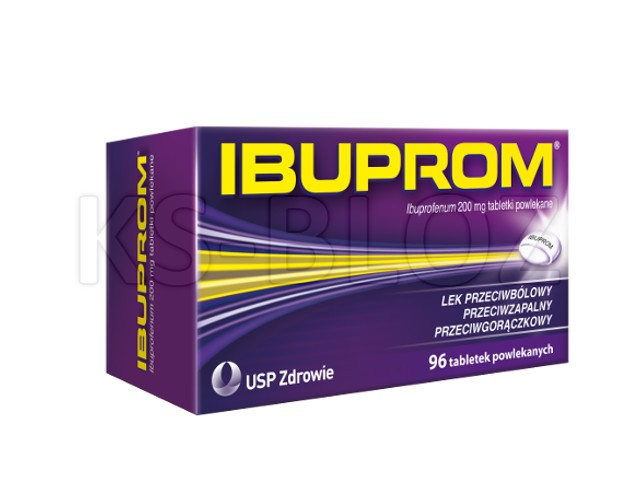 Ibuprom interakcje ulotka tabletki powlekane 0,2 g 96 tabl.