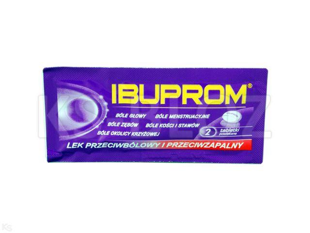 Ibuprom interakcje ulotka tabletki powlekane 0,2 g 2 tabl.