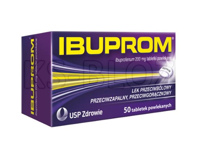 Ibuprom interakcje ulotka tabletki powlekane 0,2 g 50 tabl.