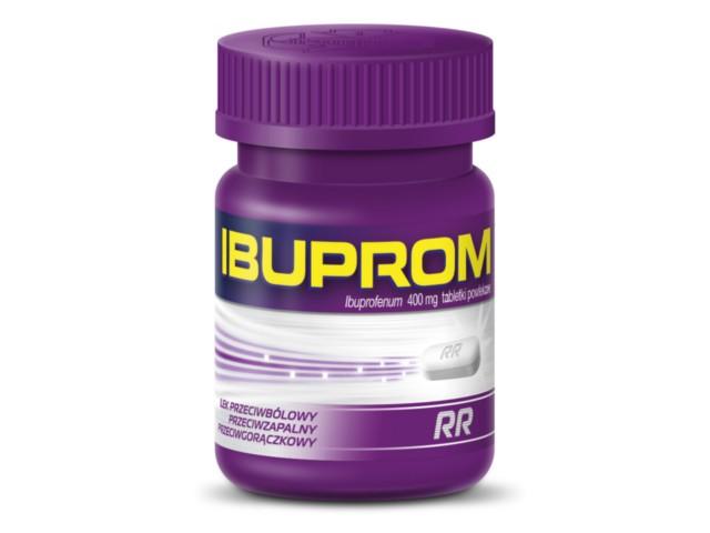 Ibuprom RR interakcje ulotka tabletki powlekane 0,4 g 48 tabl.