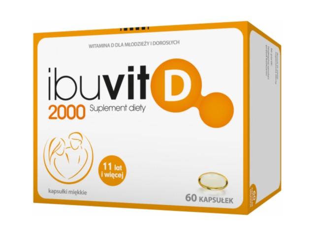 Ibuvit D 2000 interakcje ulotka kapsułki miękkie  60 kaps.