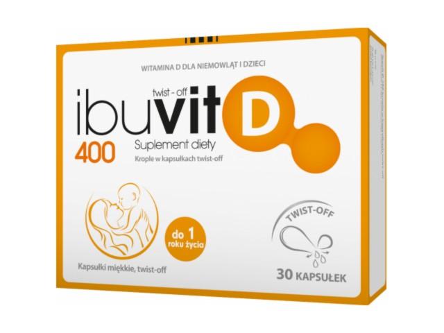 Ibuvit D Twist-off interakcje ulotka kapsułki twist-off 400 j.m. 30 kaps.