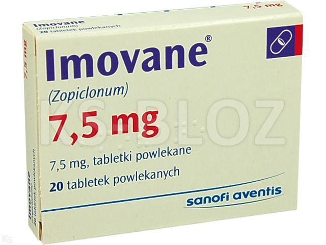 Imovane interakcje ulotka tabletki powlekane 7,5 mg 20 tabl.