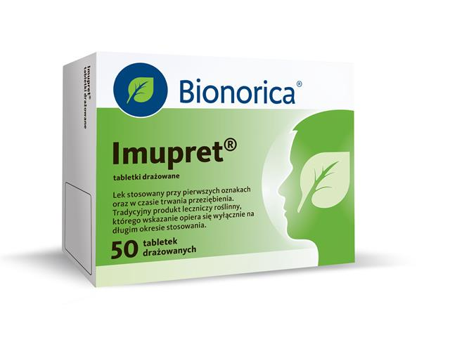 Imupret interakcje ulotka tabletki drażowane  50 tabl.