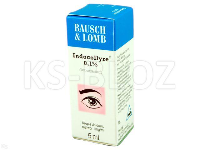 Indocollyre 0,1% interakcje ulotka krople do oczu 1 mg/ml 5 ml