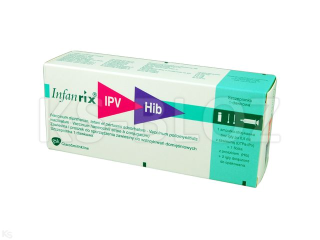 Infanrix - IPV+HIB interakcje ulotka proszek i zawiesina do sporządzania zawiesiny do wstrzykiwań 1 daw. (0,5 ml) 1 amp.-strz. po 0.5 ml