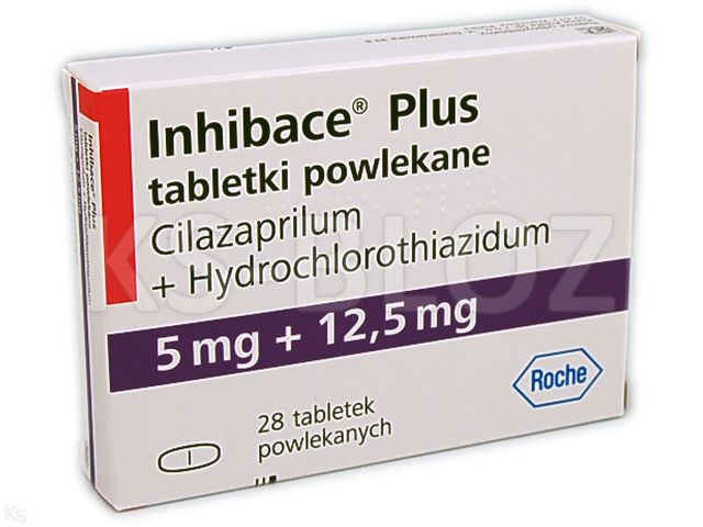 Inhibace Plus interakcje ulotka tabletki powlekane 5mg+0,0125g 28 tabl.