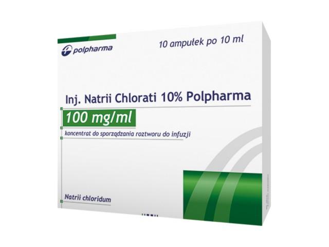Inj.Natrii chlorati 10% Polpharma interakcje ulotka koncentrat do sporządzania roztworu do infuzji 0,1 g/ml 10 amp. po 10 ml