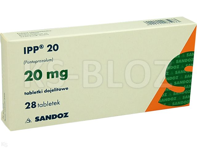 IPP 20 interakcje ulotka tabletki dojelitowe 0,02 g 28 tabl.