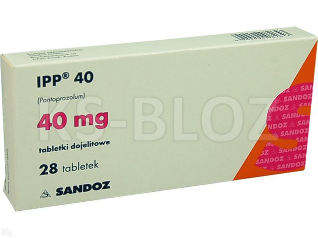 IPP 40 interakcje ulotka tabletki dojelitowe 0,04 g 28 tabl.
