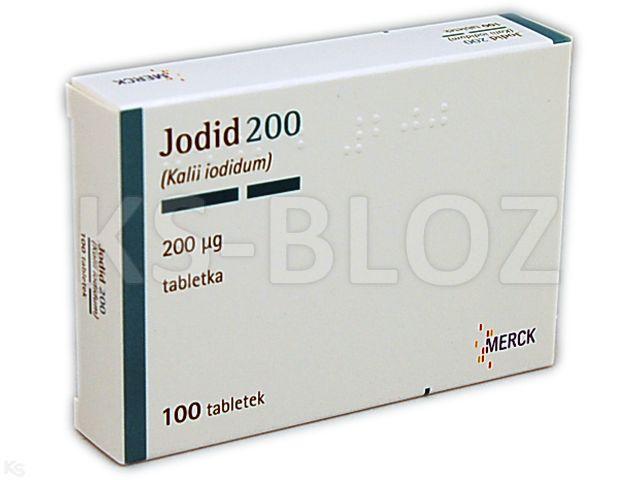 Jodid 200 interakcje ulotka tabletki 0,2 mg 100 tabl.