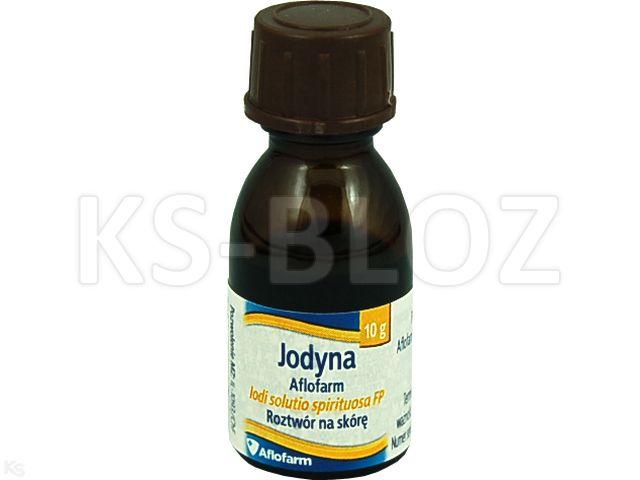 Jodyna Aflofarm interakcje ulotka roztwór na skórę  10 g