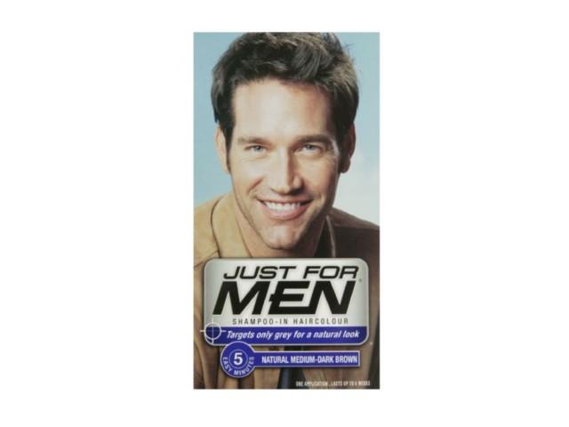 JUST FOR MEN H-40 Szamp. koloryzuj.d/mężczyzn ( średni brąz/czarny) interakcje ulotka   27.5 ml   +38,5ml