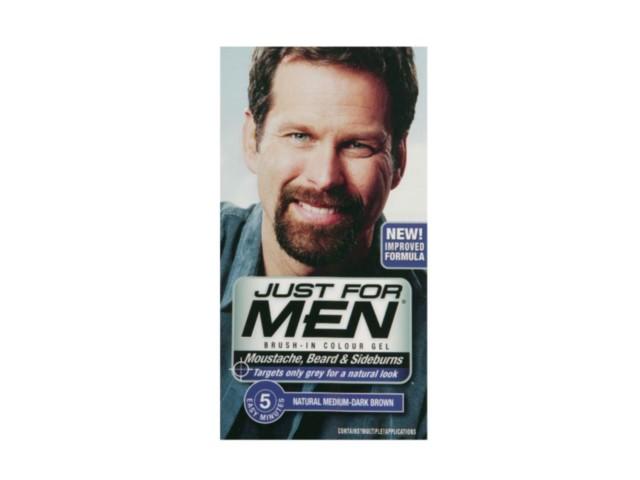 JUST FOR MEN M-25 Żel koloryzuj.d/brody i wąsów ( jasny brąz) interakcje ulotka   14.2 g | +14,2 g